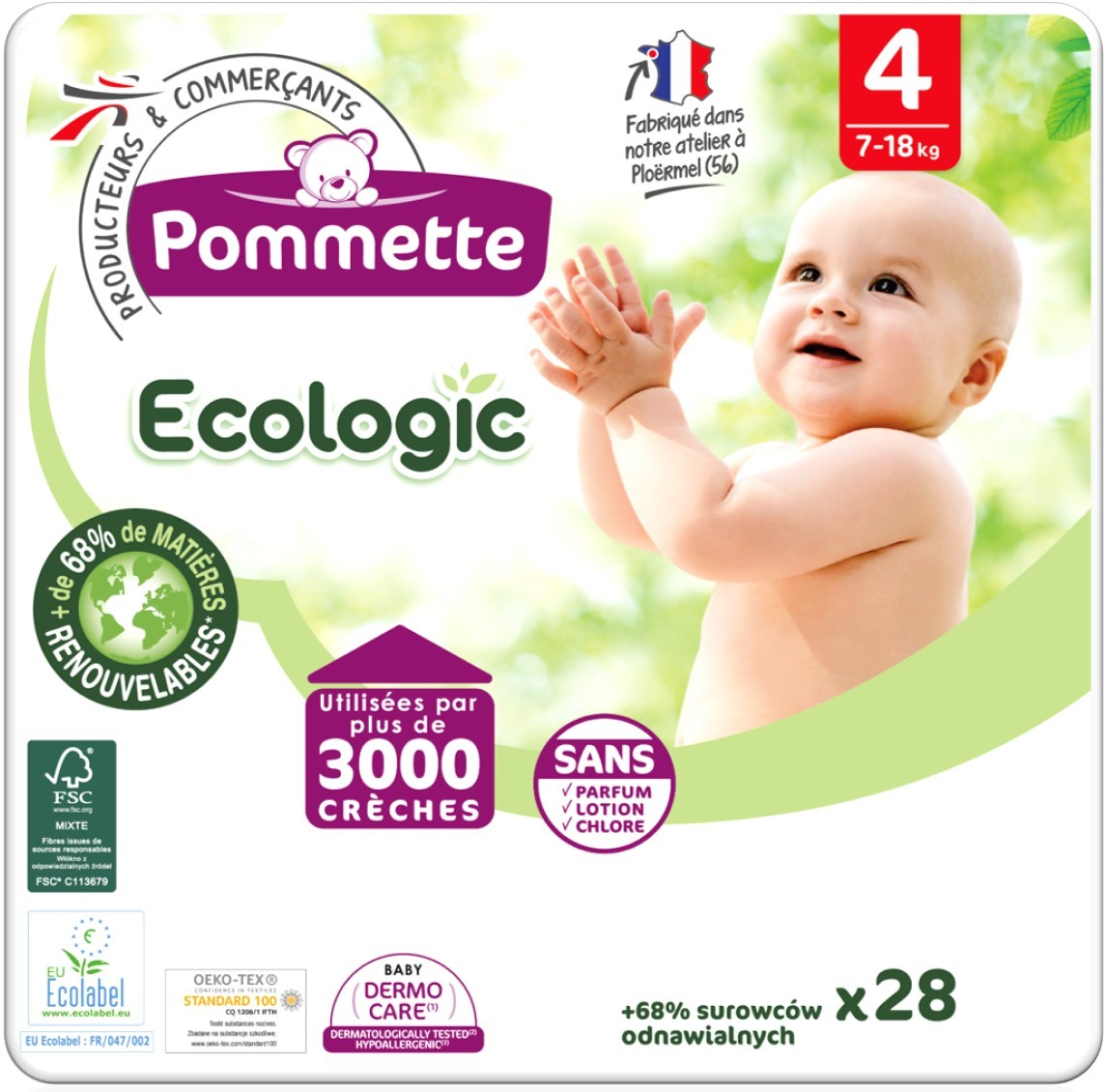 couches pommette ecologic T4