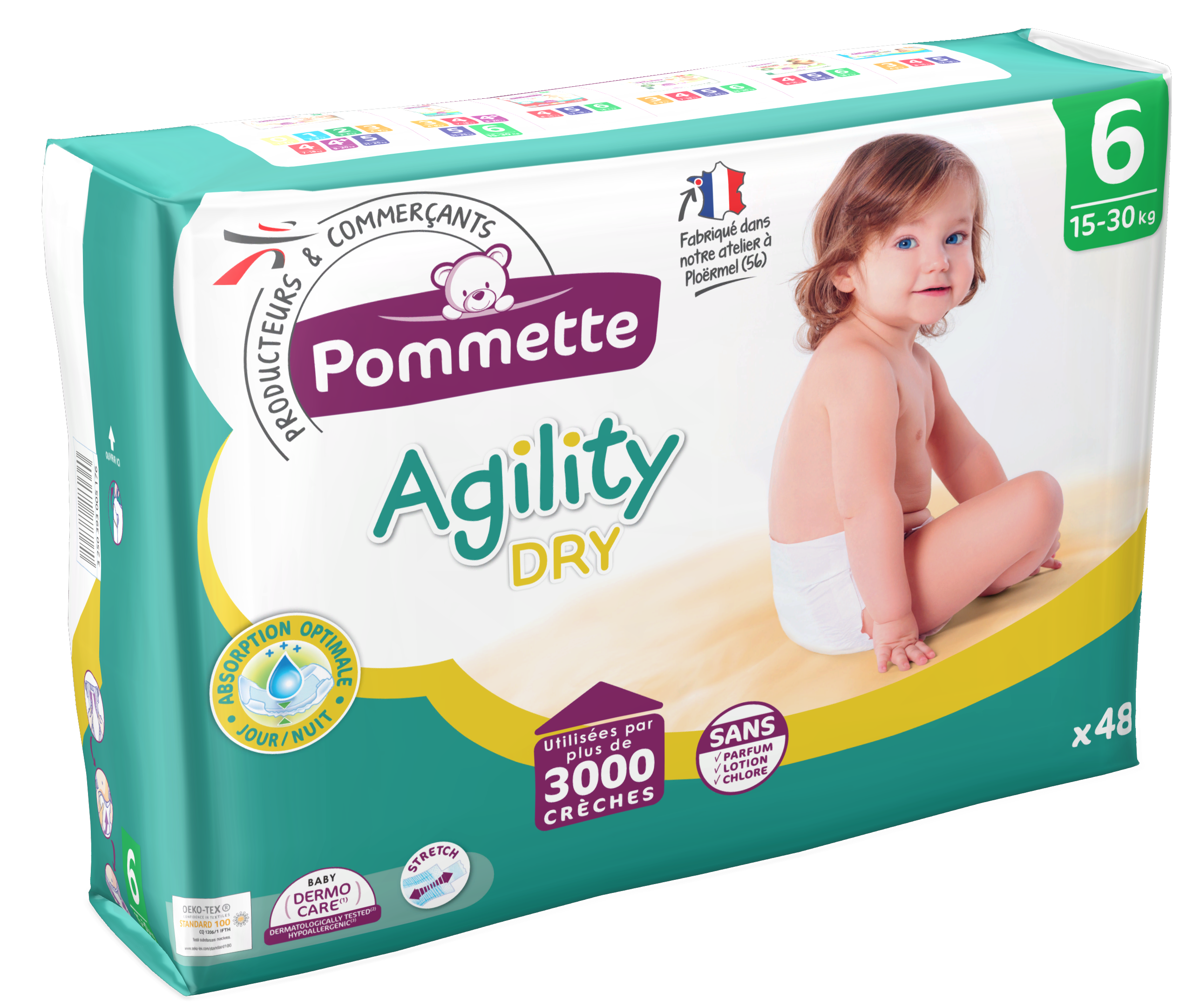 couche agility taille 6