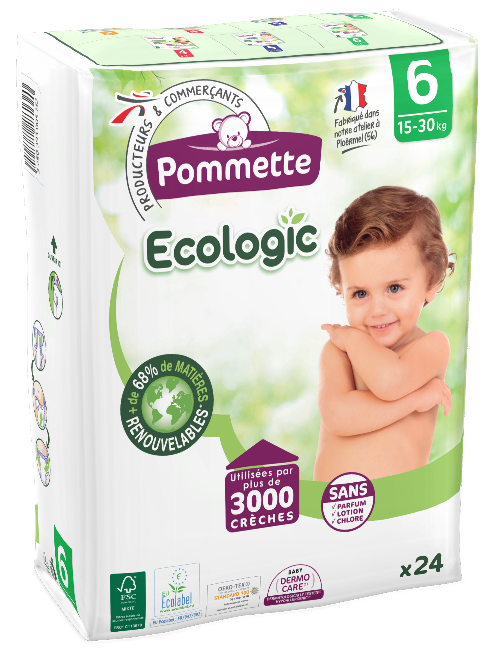 Couche ecologic taille 6